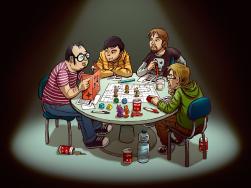 joueurs de jeu de rôle