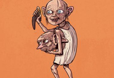 golum et l'elfe de maison