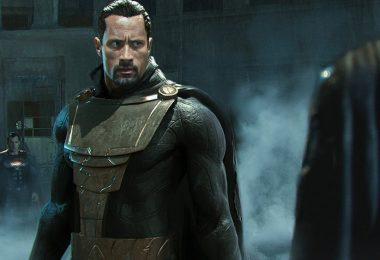 the rock en costume de black adam