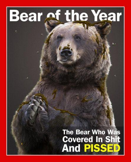 ours à la pisse