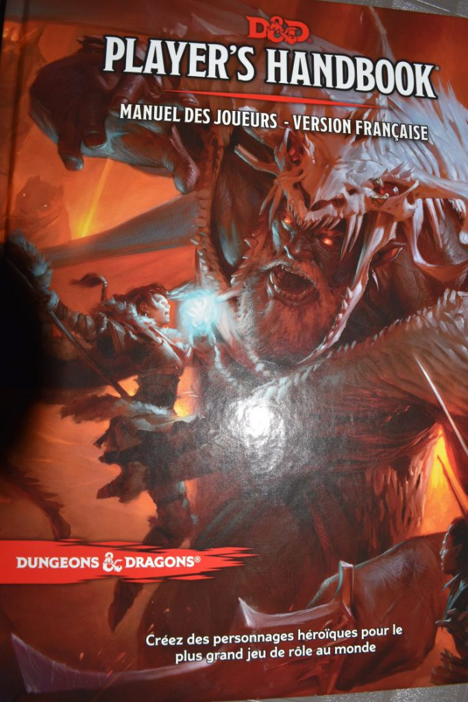 traduction de dd5 le player's handbook