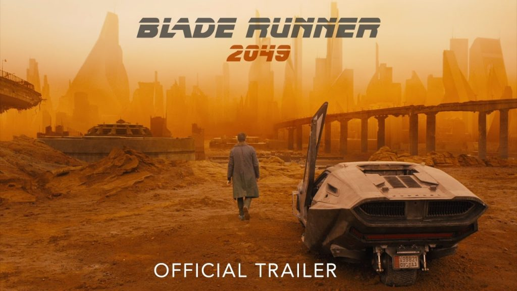 affiche officiele de blade runner 2049