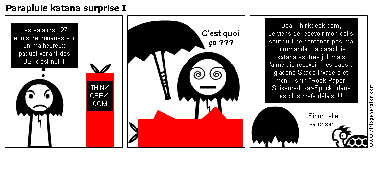 parapluie katana think geek