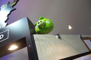 un cochon vert stand Le Lombard