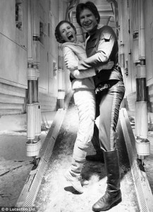 couple starwars han solo princesse leia