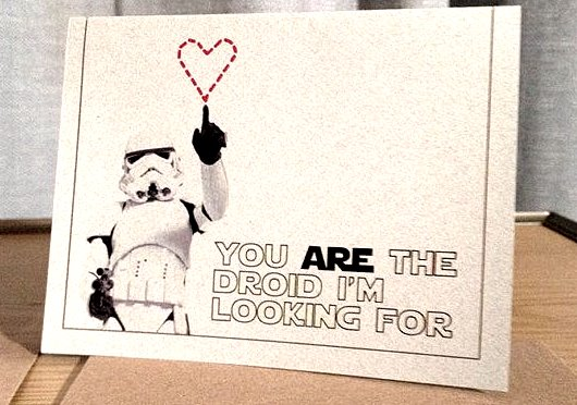 carte saint valentin geek