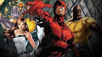 les 4 super héro netflix marvel