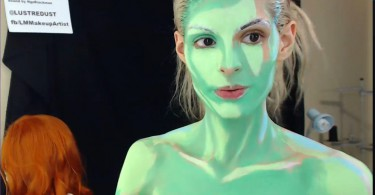 geekette kay Pike bodypaint - Poison eevy
