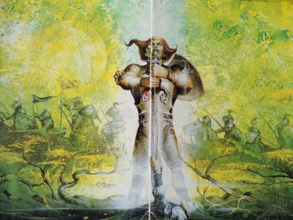l'écran du jeu de role pendragon dans sa première édition