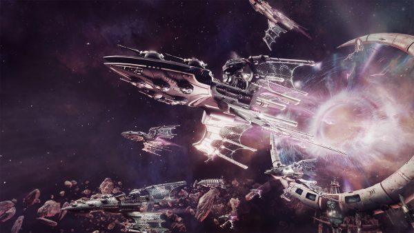 flotte de vaisseau dans l'espace