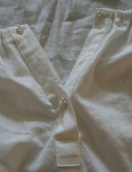 détails col création chemise pirate