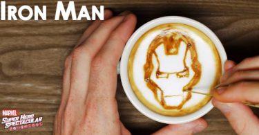 iron man dans mon café