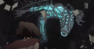 un monstre attaque une étudiante