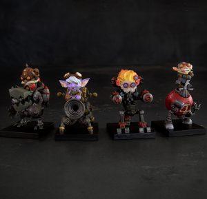riri fifi loulou nifnif ... bref les 4 figurines ...