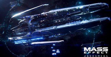 un vaisseau géant surgit par un portail