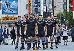 les all blacks a tokyo pour une pub