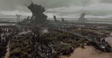 paysage terraformé par les aliens