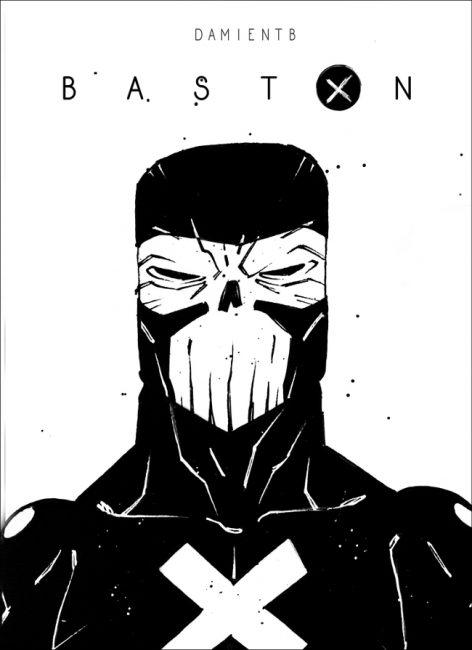 Projet de couverture pour Baston, la BD de DamienTB