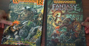 V1 et V4 du jeu de rôle warhammer fantasy