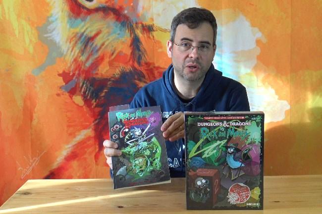 présentation du jeu et de la bd rick et morty contre donjons et dragons