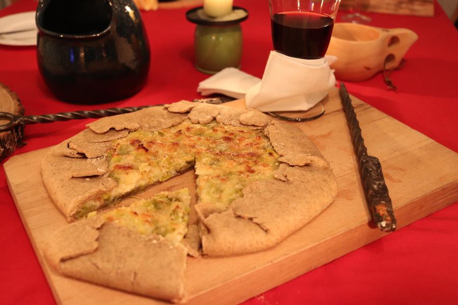 Recette Elder Scrolls - tarte au poireau et au fromage