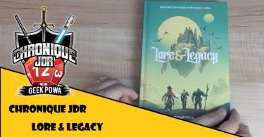 jeu de role lore & legacy