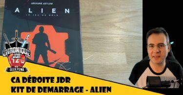 fletch ouvre la boite de jeu de roles alien kit de démarrage