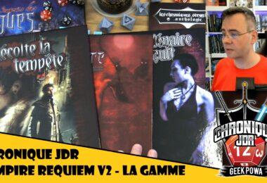 Fletch présente la gamme de jeu de role vampire requiem version deux