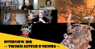 l'équipe de geek pow recoit tikokh l'auteur d'okimba